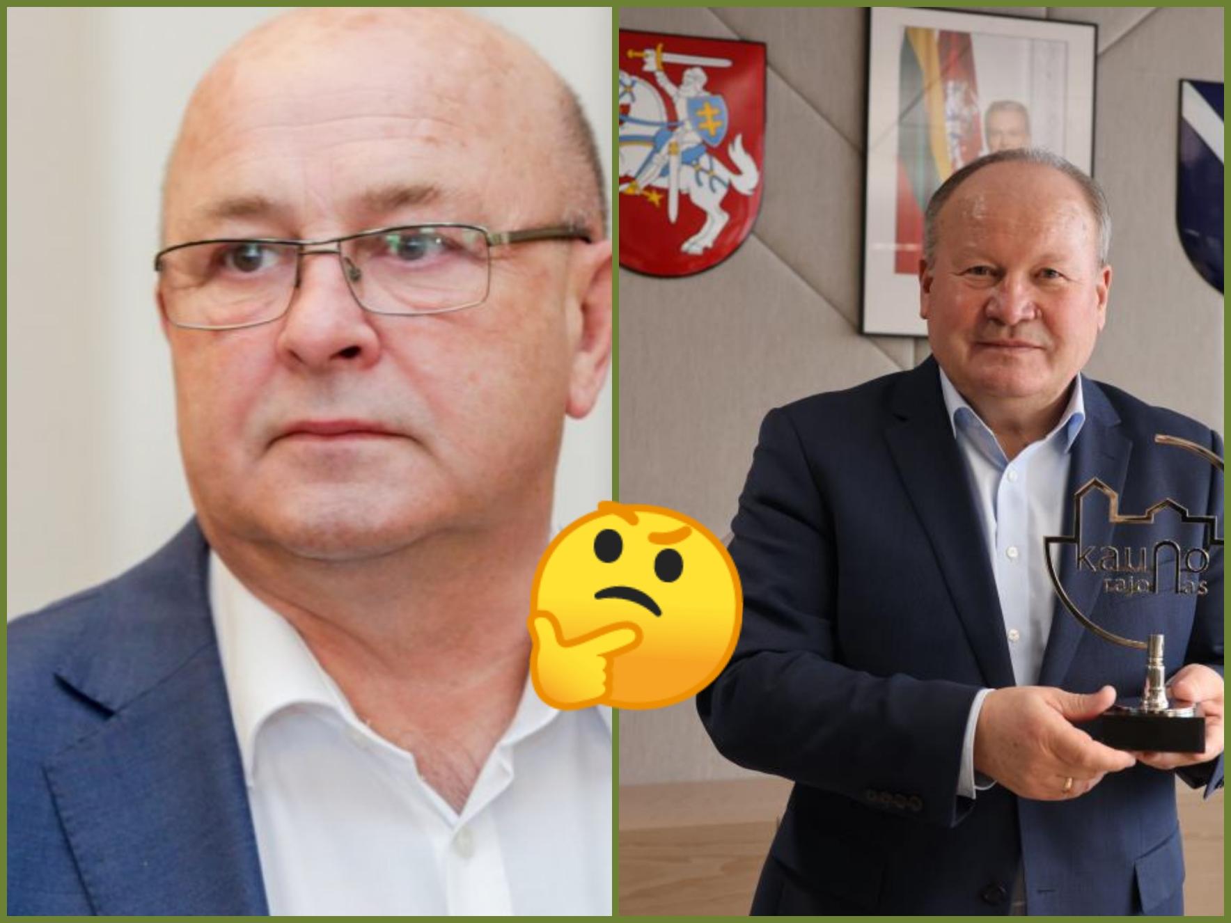 Jauno mieso meras Visvaldas matijošaitis ir Kauno rajono meras Valerijus makūnas